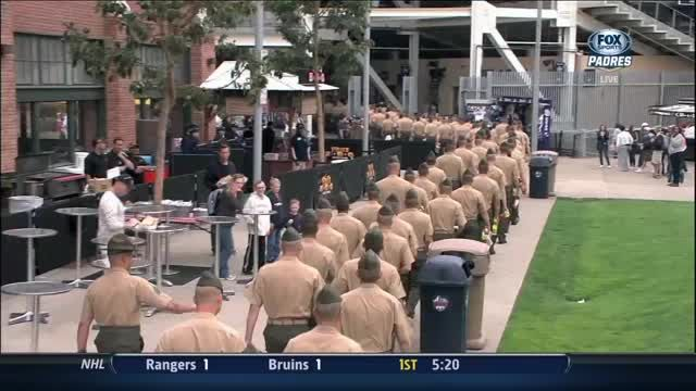 News video: Padres honor Marines