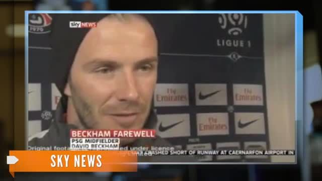 News video: An Emotional Ending to David Beckham's Soccer Career
